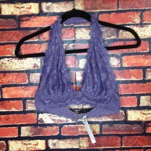 Small Free People Purple Violet Lace Bralette